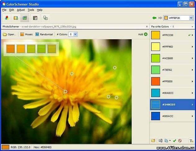 Скачать бесплатно ColorSchemer Studio v2.1.0.